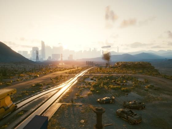 Mit der Eisenbahn in den Sonnenuntergang